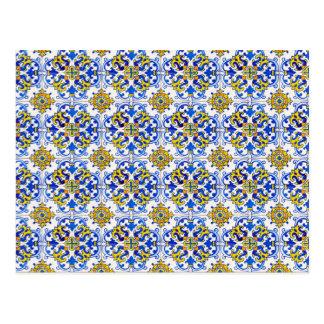 Carte Postale Art sans couture d'Azulejo