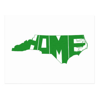 Carte Postale Art vert de mot de l'État d'origine de la Caroline