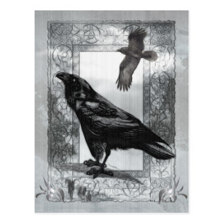 Carte Postale Art victorien gothique d'imaginaire de Raven
