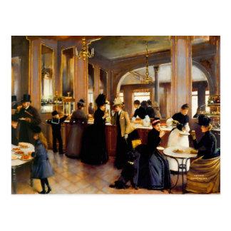 Carte Postale Art vintage 1889 de magasin de pâtisserie