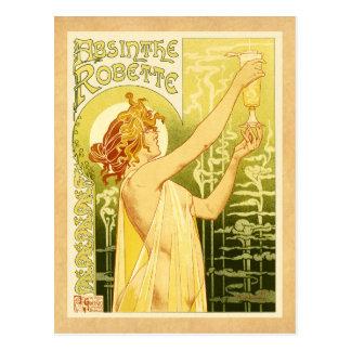 Carte Postale Art vintage d'affiche d'absinthe
