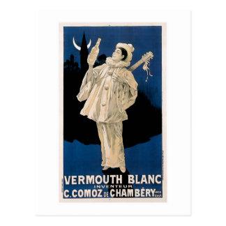Carte Postale Art vintage d'annonce de boissons de Blanc de