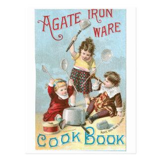 Carte Postale Art vintage d'annonce de livre de cuisine