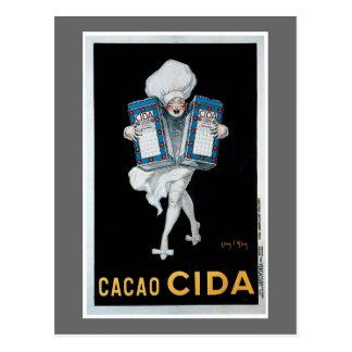 Carte Postale Art vintage d'annonce de nourriture de Cida de