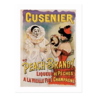 Carte Postale Art vintage d'annonce de vin de Cusenier