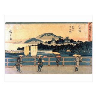 Carte Postale Art vintage de bois de graveur de croisement