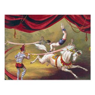 Carte Postale Art vintage de cirque