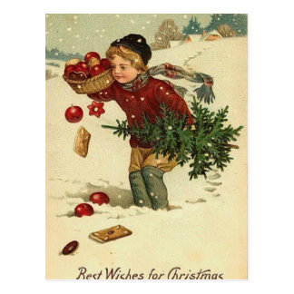 Carte Postale Art vintage de Noël victorien rétro