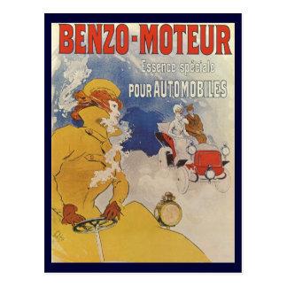 Carte Postale Art vintage Nouveau, femme conduisant la voiture