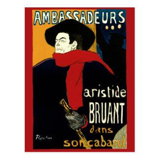 Carte Postale Art vintage Nouveau par Henri De Toulouse Lautrec