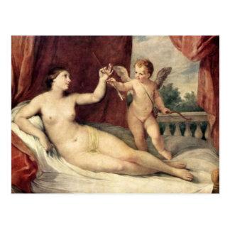 Carte Postale Art vintage - Vénus et cupidon - Reni