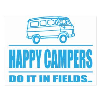 Carte Postale Articles de cadeau pour le campeur inspiré heureux