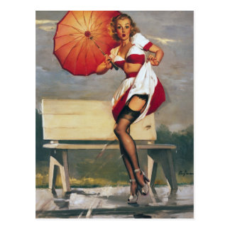 Carte Postale Artiste Gil Elvgren