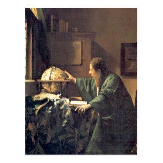 Carte Postale Artiste néerlandais Vermeer peignant l'astronome