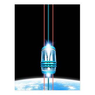 Carte Postale Ascenseur futuriste de l'espace