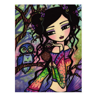 Carte postale asiatique d'art d'imaginaire de sirè