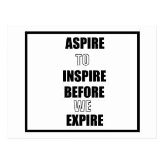 CARTE POSTALE ASPIREZ POUR INSPIRER AVANT QUE NOUS EXPIRIONS