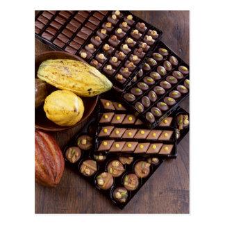 Carte Postale Assortiment de chocolat pour Noël pour l'usage