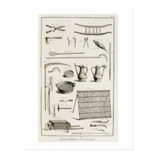 Carte Postale Assortiment des outils de jardinage, du 'Encyclope