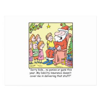 Carte Postale Assurance de bande dessinée de Noël pour le père