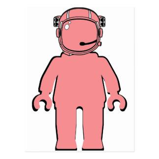Carte Postale Astronaute Minifig de style de Banksy