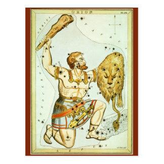 Carte Postale Astronomie céleste vintage, constellation d'Orion