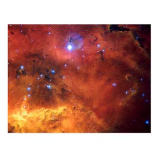 Carte Postale Astronomie d'espace de la NASA de la nébuleuse NGC