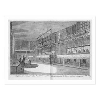 """Carte Postale Ateliers de gobelin, de la """"encyclopédie"""" par Deni"""