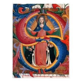 Carte Postale ATF Angelico : Madonna de la pitié avec les moines