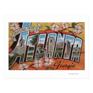 Carte Postale Atlanta, la Géorgie - grandes scènes 2 de lettre