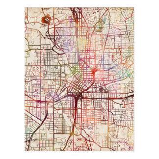 Carte Postale atlanta map painting