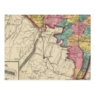 Carte Postale Atlas topographique de comté du Maryland