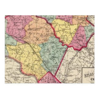 Carte Postale Atlas topographique des comtés 2 du Maryland