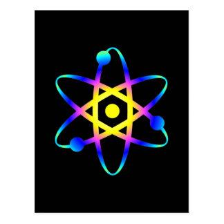 Carte Postale atome de la science