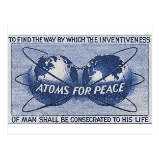 Carte Postale Atomes pour la paix
