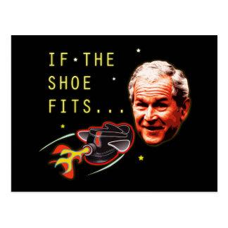 Carte Postale Attaque de la chaussure @ George Bush de