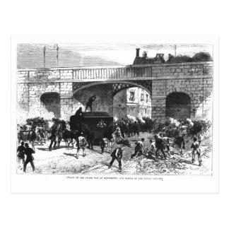 Carte Postale Attaque sur la prison Van à Manchester
