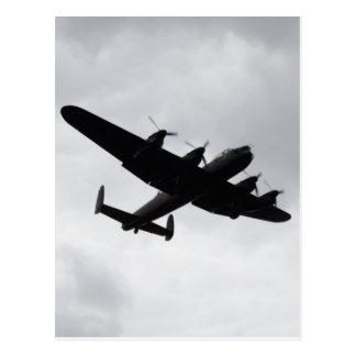 Carte Postale Atterrissage de bombardier de Lancaster