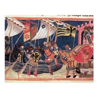Carte Postale Atterrissage de Jules César en Angleterre