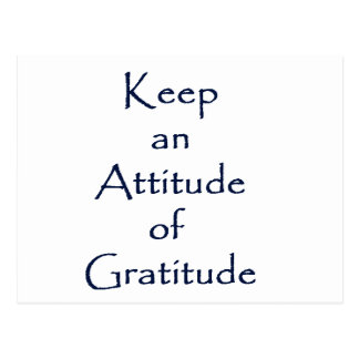Carte Postale Attitude de gratitude