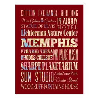 Carte Postale Attractions et endroits célèbres de Memphis,