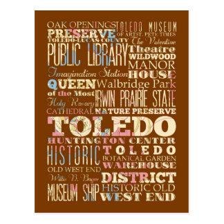 Carte Postale Attractions et endroits célèbres de Toledo, Ohio