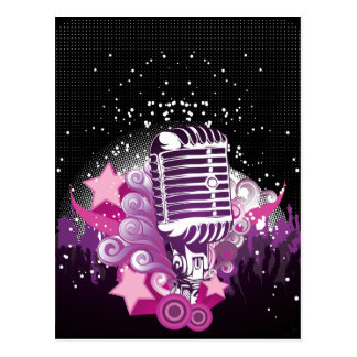 Carte Postale Attrait du microphone
