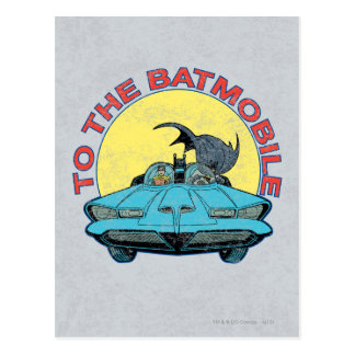 Carte Postale Au Batmobile - icône affligée