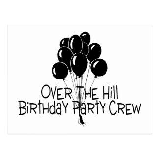 Carte Postale Au-dessus de l'équipage de fête d'anniversaire de