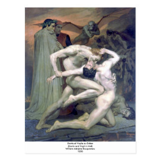 Carte Postale Au Enfers de Bouguereau - de Dante et de Virgile