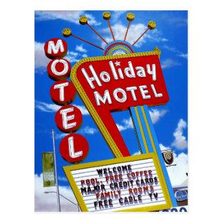 Carte postale au néon de motel de vacances de Las