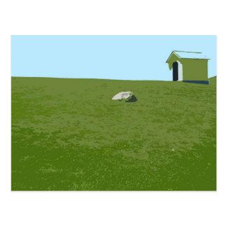 Carte Postale Au pied du phare de point de Montauk