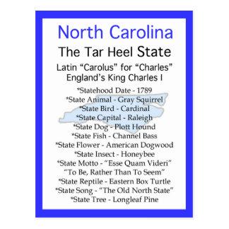 Carte Postale Au sujet de la Caroline du Nord