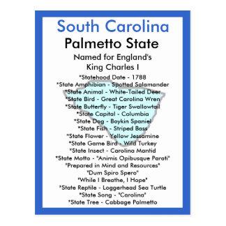 Carte Postale Au sujet de la Caroline du Sud